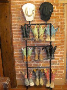 Cowboy Boot Storage Rack Western Boot Rack Cowboy Boot