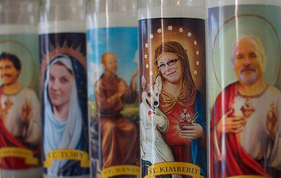the friar animal lover prayer candle funny saint candle saint