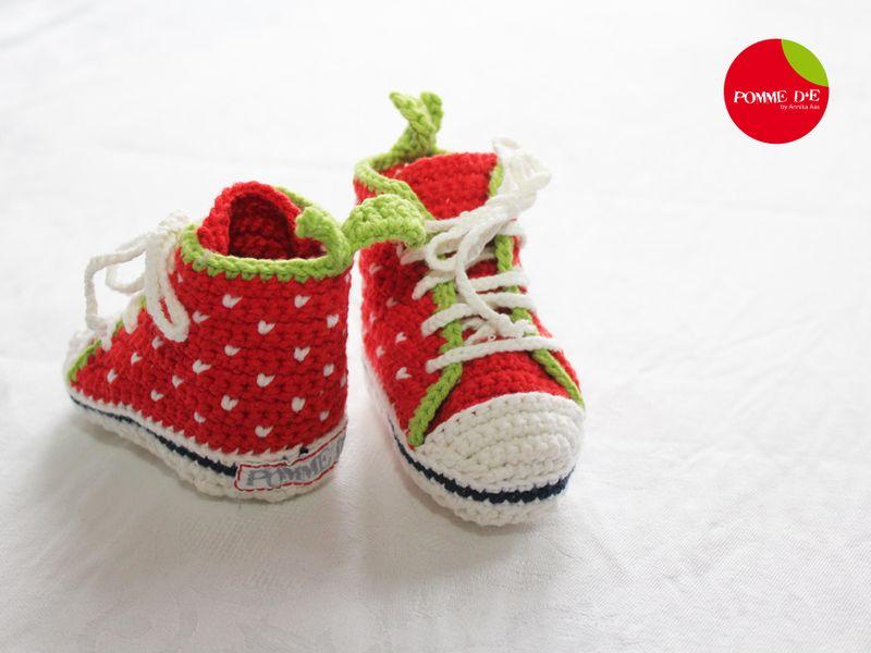 Coole+Baby+Hightops_Erdbeere_Gr.16/17+von+Pomme+d'E+auf+DaWanda.com
