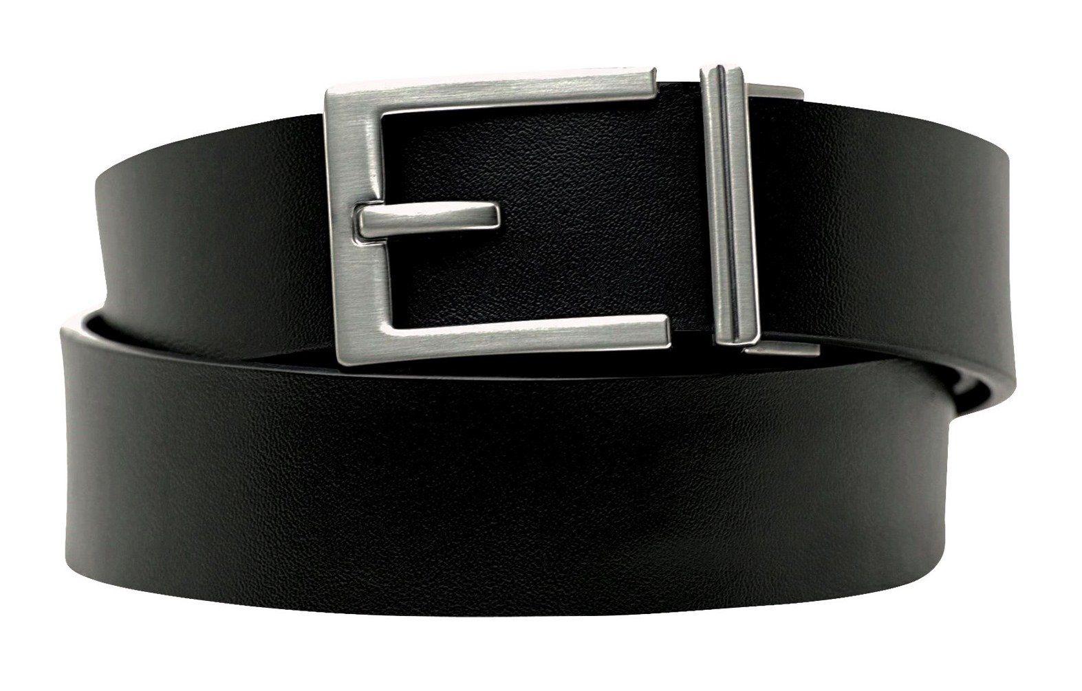 """Men's Leather Ratchet Belt """"Express"""" Nickel Buckle"""