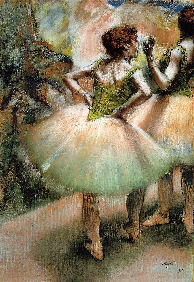 Sitting and brushing by Edgar Degas Giclee Fine Art Print Repro on Canvas