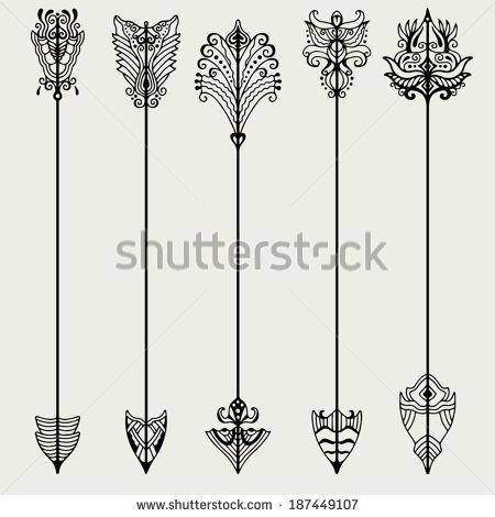 Tattoo Vector Set Of Vintage Arrows