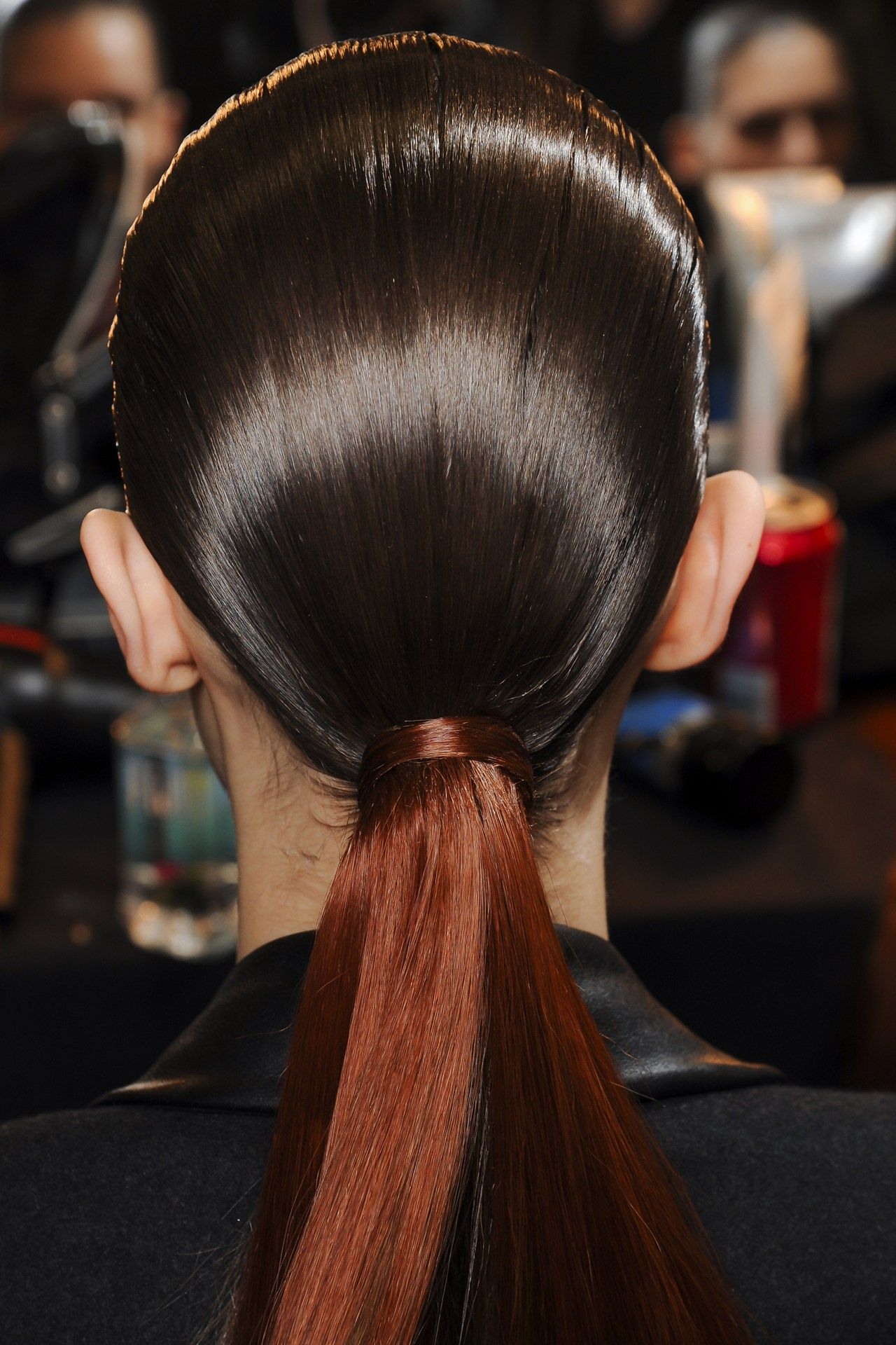 Backstage hair autumnwinter ponytail and extensions