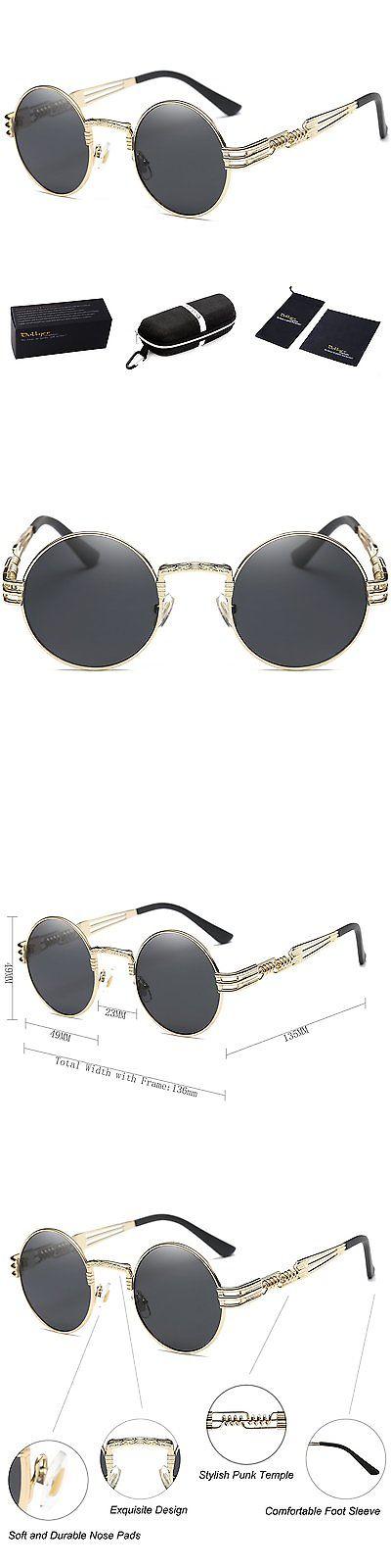 7af101c4eb Glasses 175646  Dollger John Lennon Round Sunglasses Steampunk Metal Spring  Frame Mirror Lens -  BUY IT NOW ONLY   30.28 on eBay!