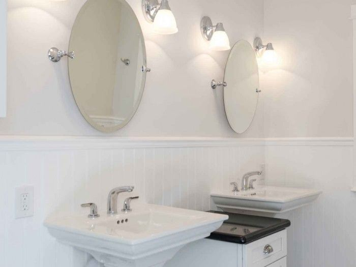 12 Outstanding White Oval Bathroom Mirror Image Ideas