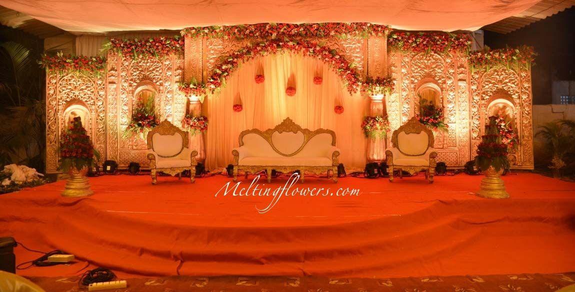 Wedding Stage Decoration Reception Decors Pinterest Wedding