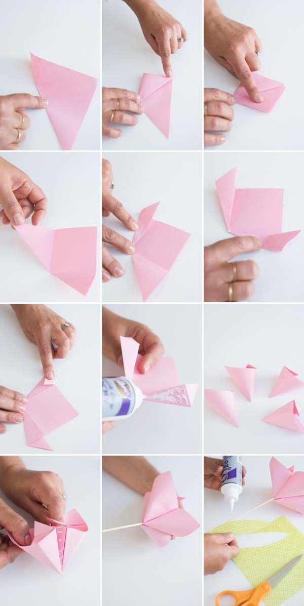 53 instructions for origami flower how to make unique. Black Bedroom Furniture Sets. Home Design Ideas