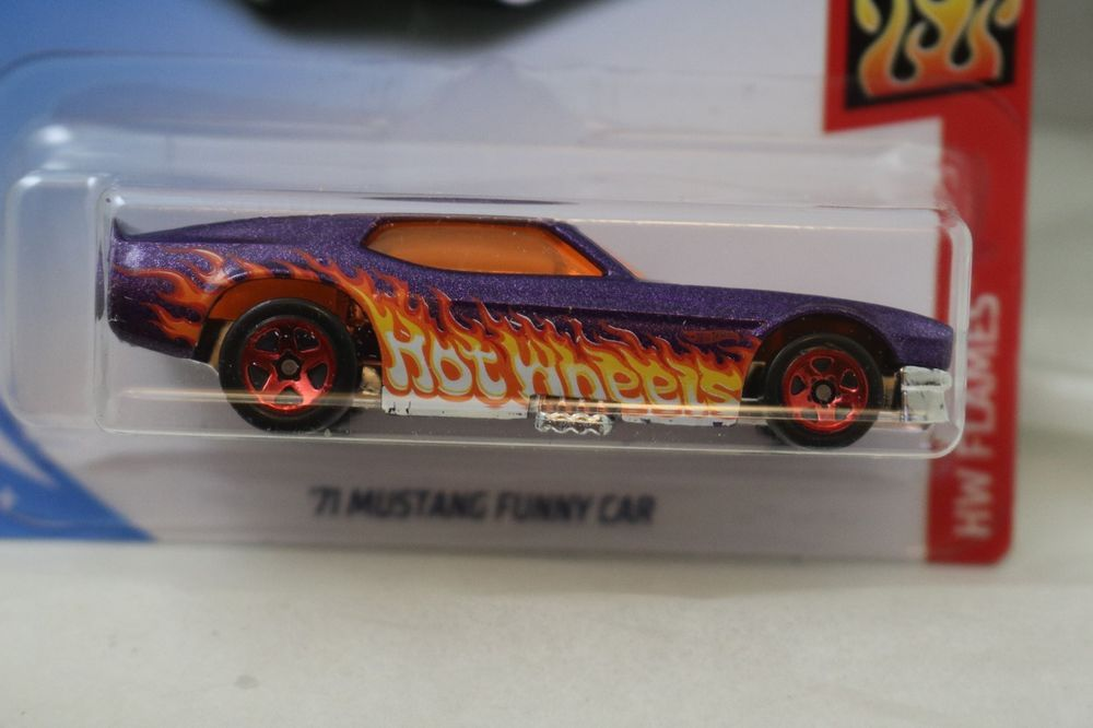 Hot Wheels Flames 71 Mustang Funny Car 8 10 C Case 2018 New