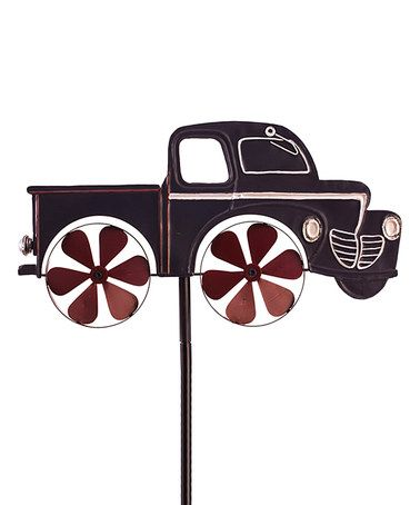This Vintage Pickup Truck Kinetic Garden Stake is perfect! #zulilyfinds