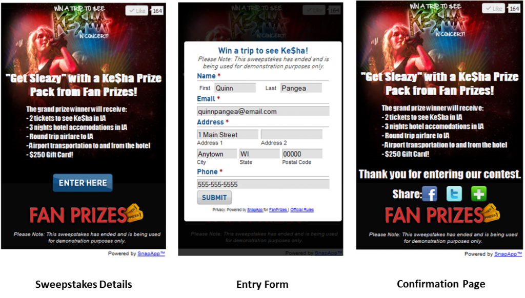 SnapApp Now Offers a Sweepstakes App for Your Sweeps, Contests and Giveaways!