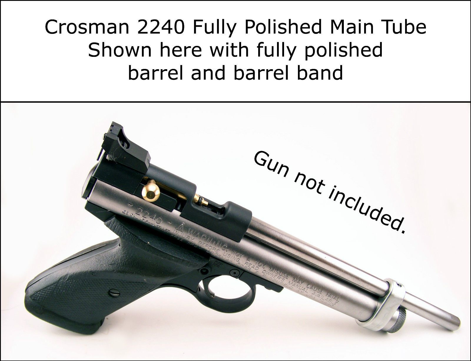 crosman 2240 fully polished co2 gas main tube upgrade like rh pinterest com 2240 Crosman Air Pistols Parts 2240 Crosman Air Pistols Parts