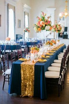 30 Navy Blue And Gold Wedding Color Ideas