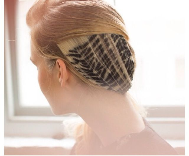 Hair by Odile Gilbert. Stenciled with hair powder.