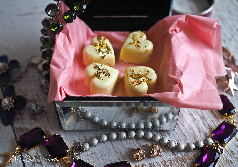 Passionfruit hearts chocolates chocolate truffles