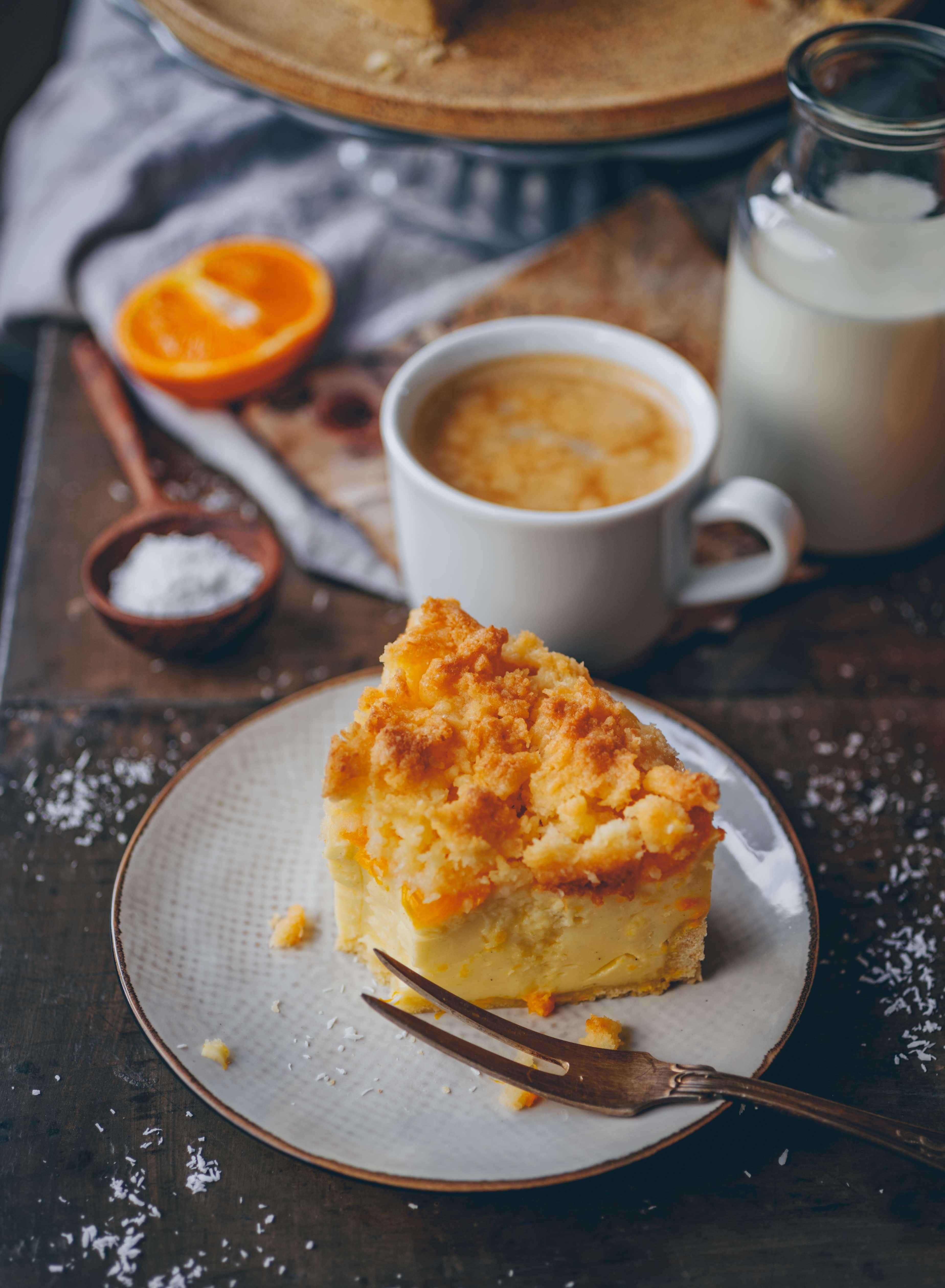 Mandarinen Schmand Kuchen Mit Kokosstreuseln Klara S Life Recipe Crumble Recipe Sour Cream Cake Plantbased Recipes