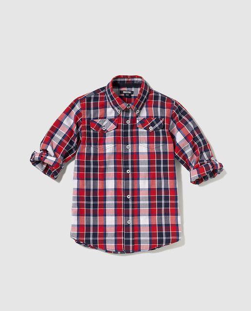 2cade349f Camisa de niño Freestyle de cuadros con bolsillos