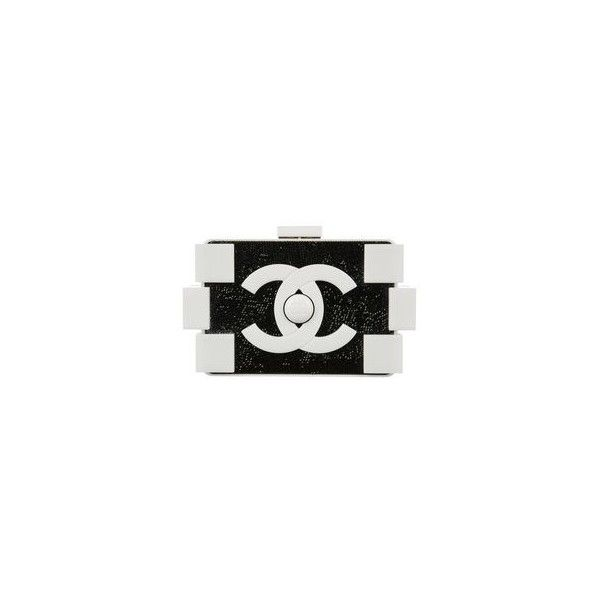 5052e52ce051 Pre-owned Chanel Lego White Lucite/black Swarovski Crystals Clutch (201,920  MXN) ❤ liked on Polyvore featuring bags, handbags, clutches, black clutches,  ...