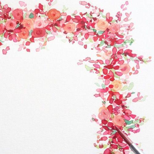 Pretty flower border pinterest watercolor pretty flower border mightylinksfo
