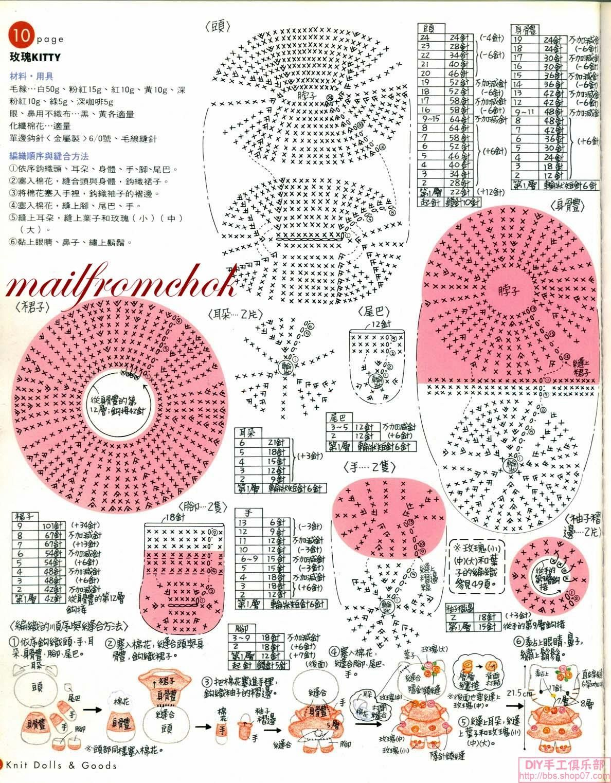 Croche pro Bebe: Bichinhos de croche | คิตตี้ | Pinterest | Modelo