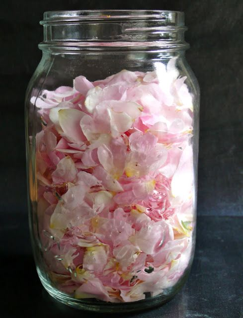 Homemade rose liqueur recipe.