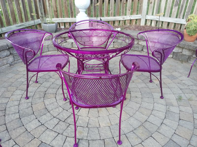 update rusted patio furniture using powder coating finished rh pinterest com powder coating patio furniture houston powder coating patio furniture orange county