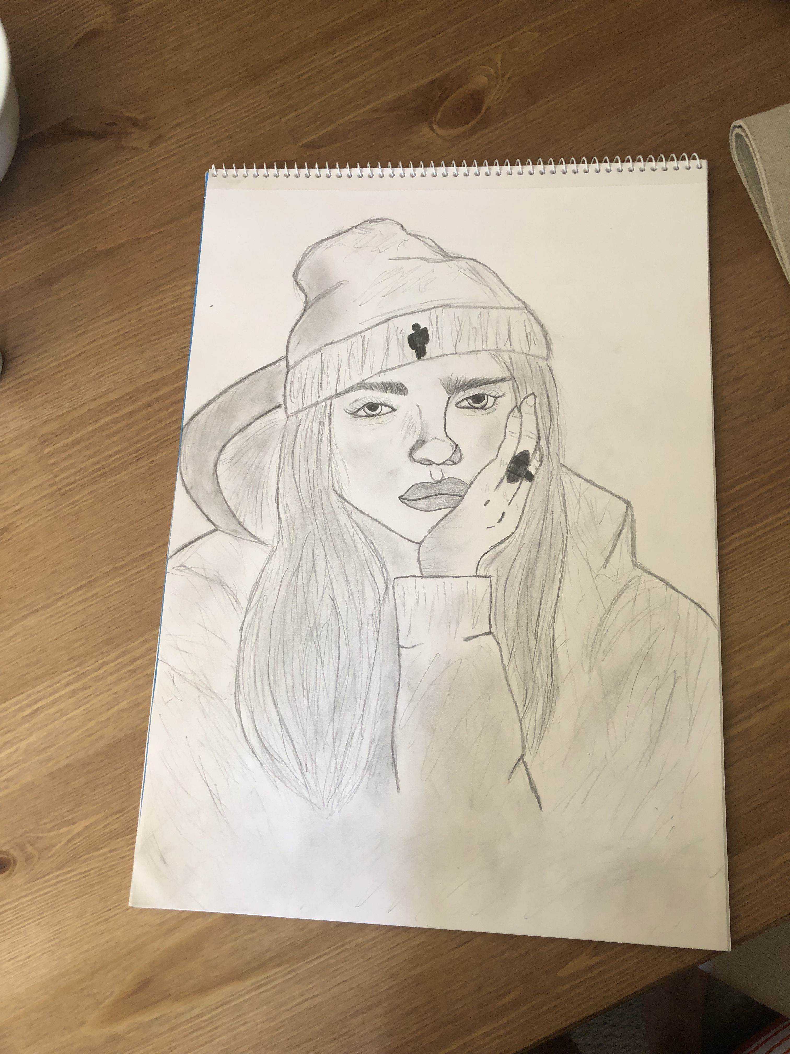 Billie Eilish Pencil Drawing That I Made Pencil Drawings