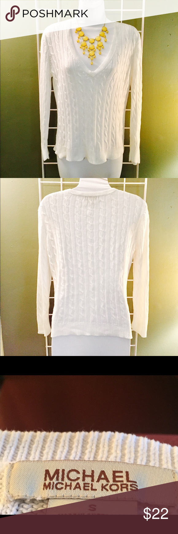Michael Kor Sweater Michael Kor Sweater. Beautiful white sweater ...