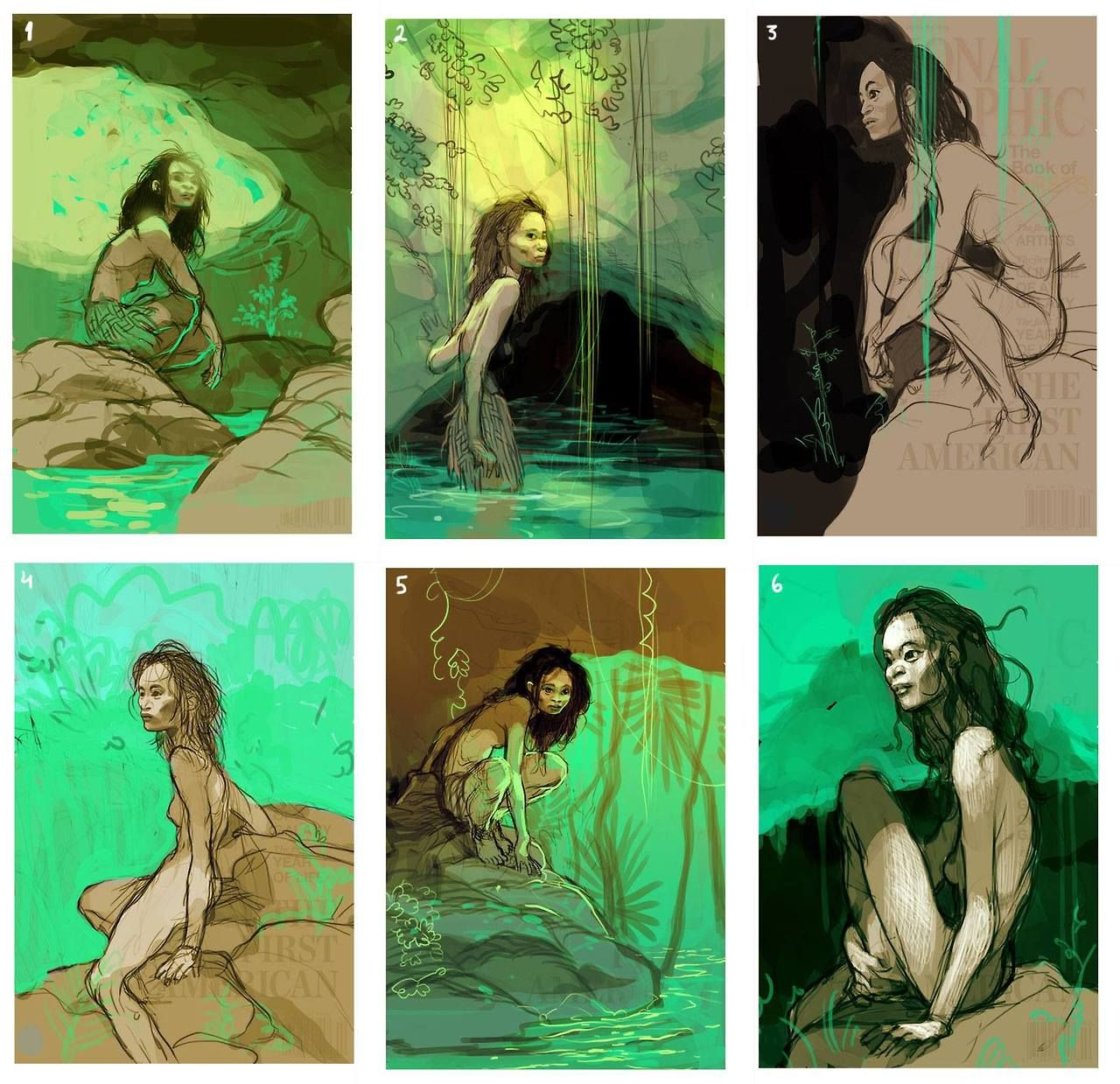 The National Geographic - Naia: The First American by Tomer Hanuka *