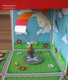 geschenkbox berraschungsbox explosionsbox fallschirm gleitschirm tandemsprung gutschein. Black Bedroom Furniture Sets. Home Design Ideas