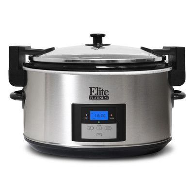 Elite by Maxi-Matic Platinum 8.5 Qt. Stainless Steel Slow Cooker