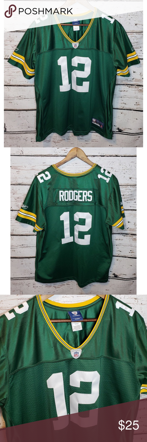 Green Bay Packers Aaron Rodgers 12 Jersey 2xx Green Bay Packers Green Bay Packers Aaron Rodgers Aaron Rodgers