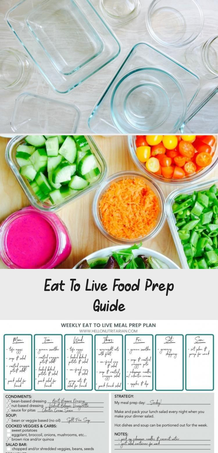 Eat To Live Food Prep Guide Meal Prep Meal Prep Plans Whole
