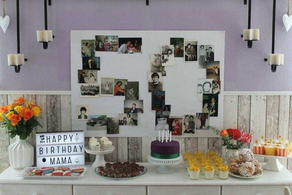 Eine Grosse 50 Aus Fotos Basteln Als Deko Zum 50sten Geburtstag Von Handwerklein 50 Geburtstag Dekorationen Mamas 50 Geburtstag Party Zum 50 Geburtstag