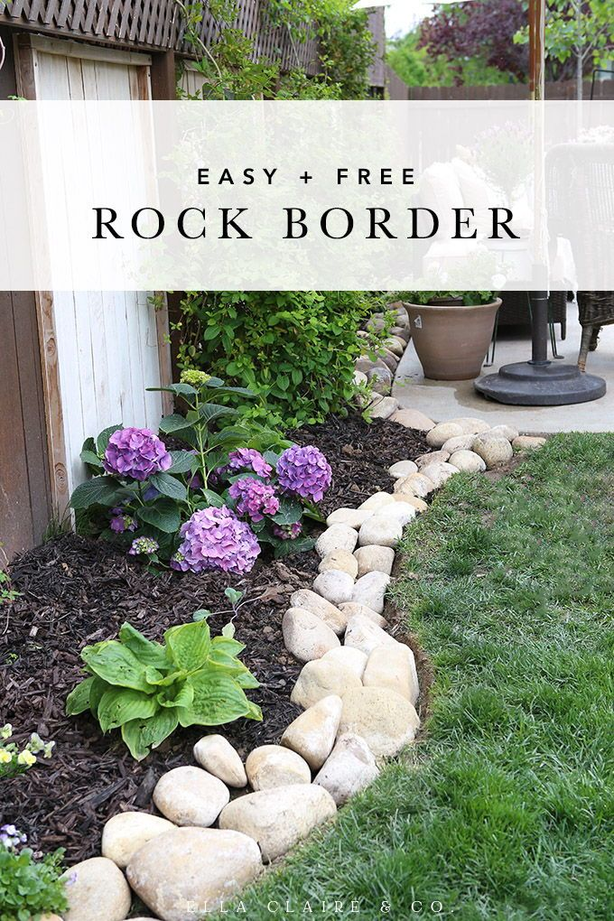 Easy River Rock Planter Border