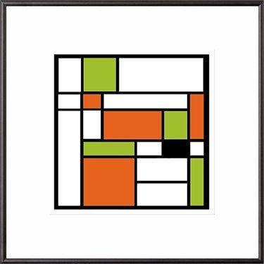 custom framed mondrian style mod giclee geometric shapes modern art 6400 cindy goss columbia