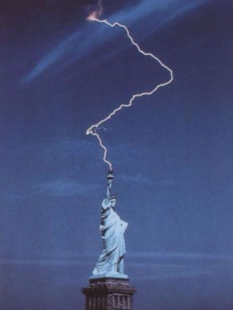Lady Liberty summoning the power of Thor!!
