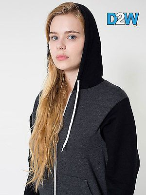 American #apparel two tone flex #fleece zip hoodie. 3 colours #(f4972w) xs - larg,  View more on the LINK: http://www.zeppy.io/product/gb/2/182009011882/