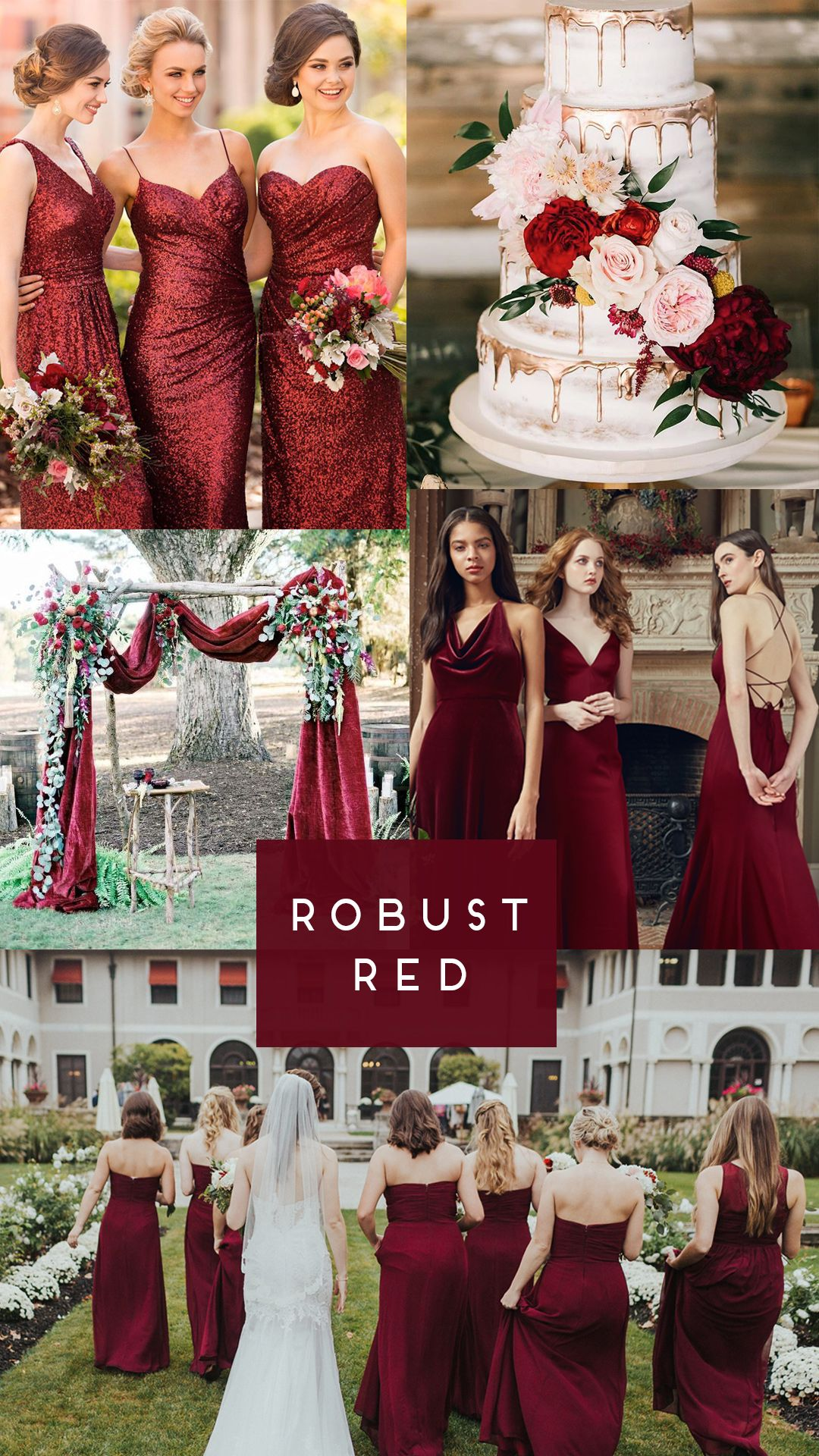 Robust Red Bridesmaid Dresses For Your Fall Wedding Dark Red Bridesmaid Dresses Dark Red Wedding Red Bridesmaid Dresses