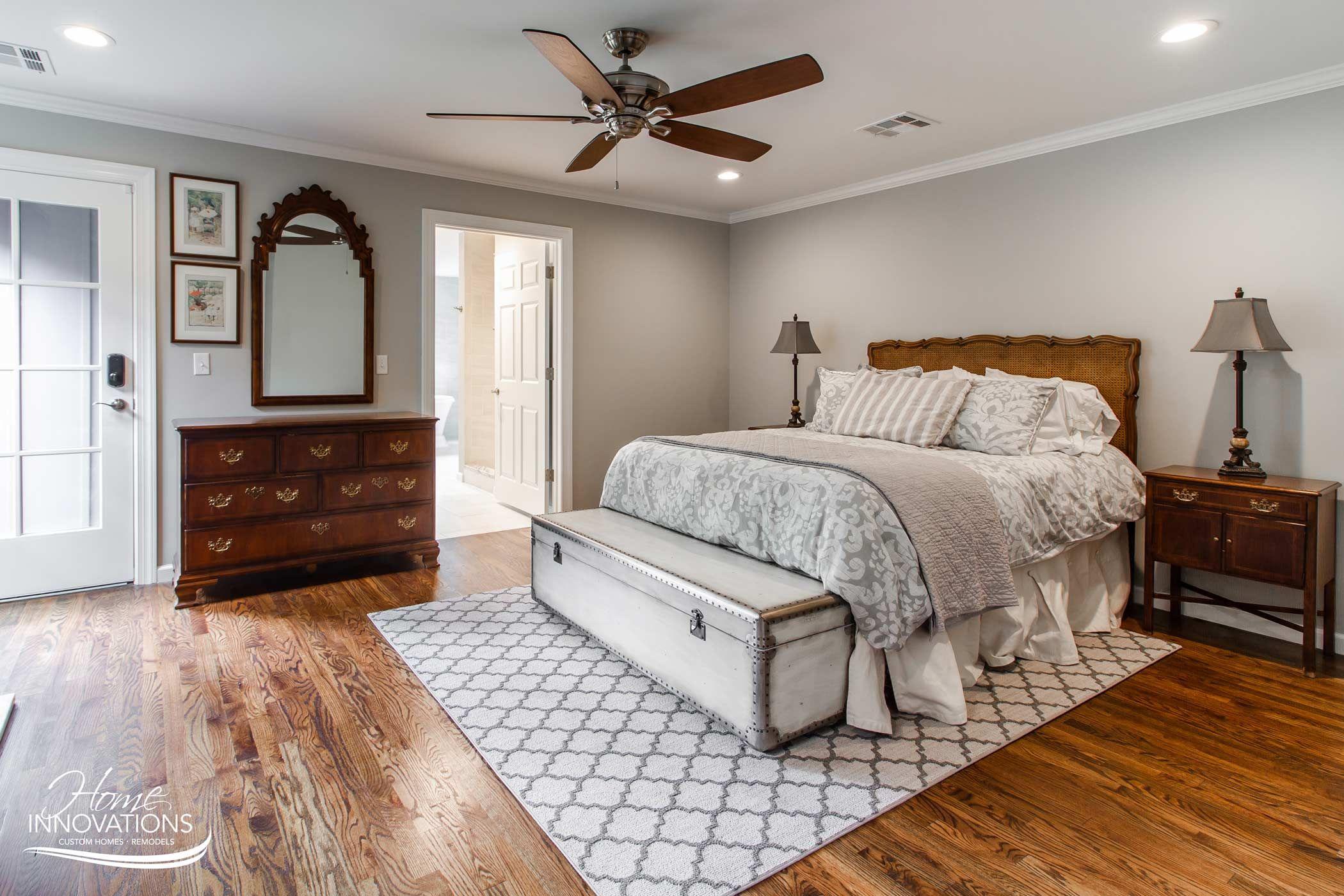 master bedroom  tulsa oklahoma  hardwood bedroom floors