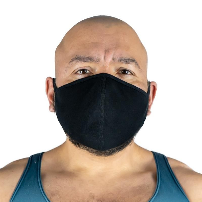 All Black Poly Spandex Face Mask With Silver Chloride 3 Pack In 2020 All Black Silver Chloride Mask