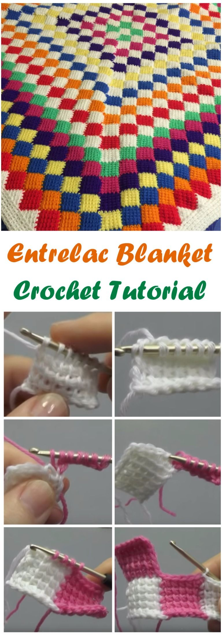 Beautiful Entrelac Blanket Crochet Tutorials | Häkelanleitung ...