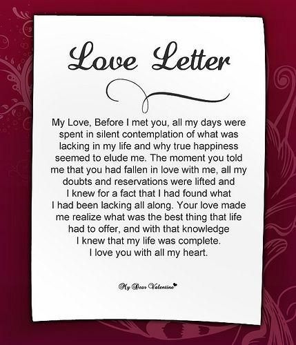 Sweet Love Letters For Her | Love Advice For Men | Romantic love