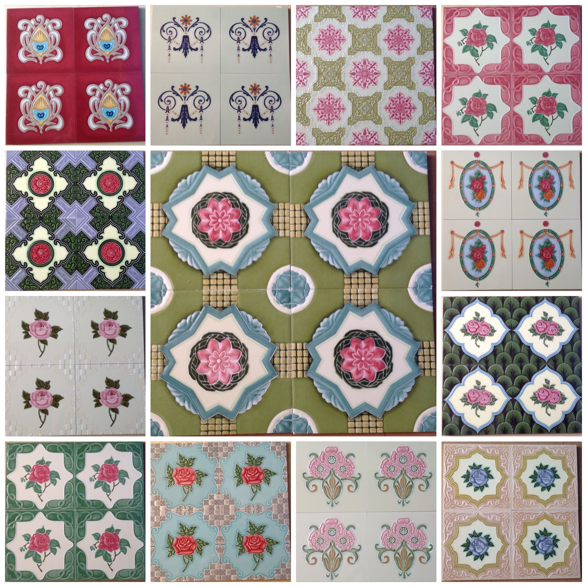 Customized Peranakan Tiles Home Tile Design Pattern Vintage Tile Victorian Tiles