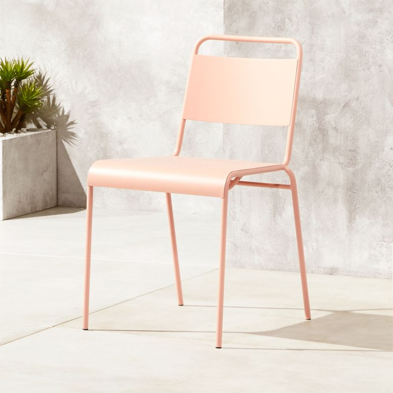 Lucinda Dusty Pink Outdoor Chair Reviews In 2020 With Images Dining Chairs Patio Chairs Metal Dining Chairs