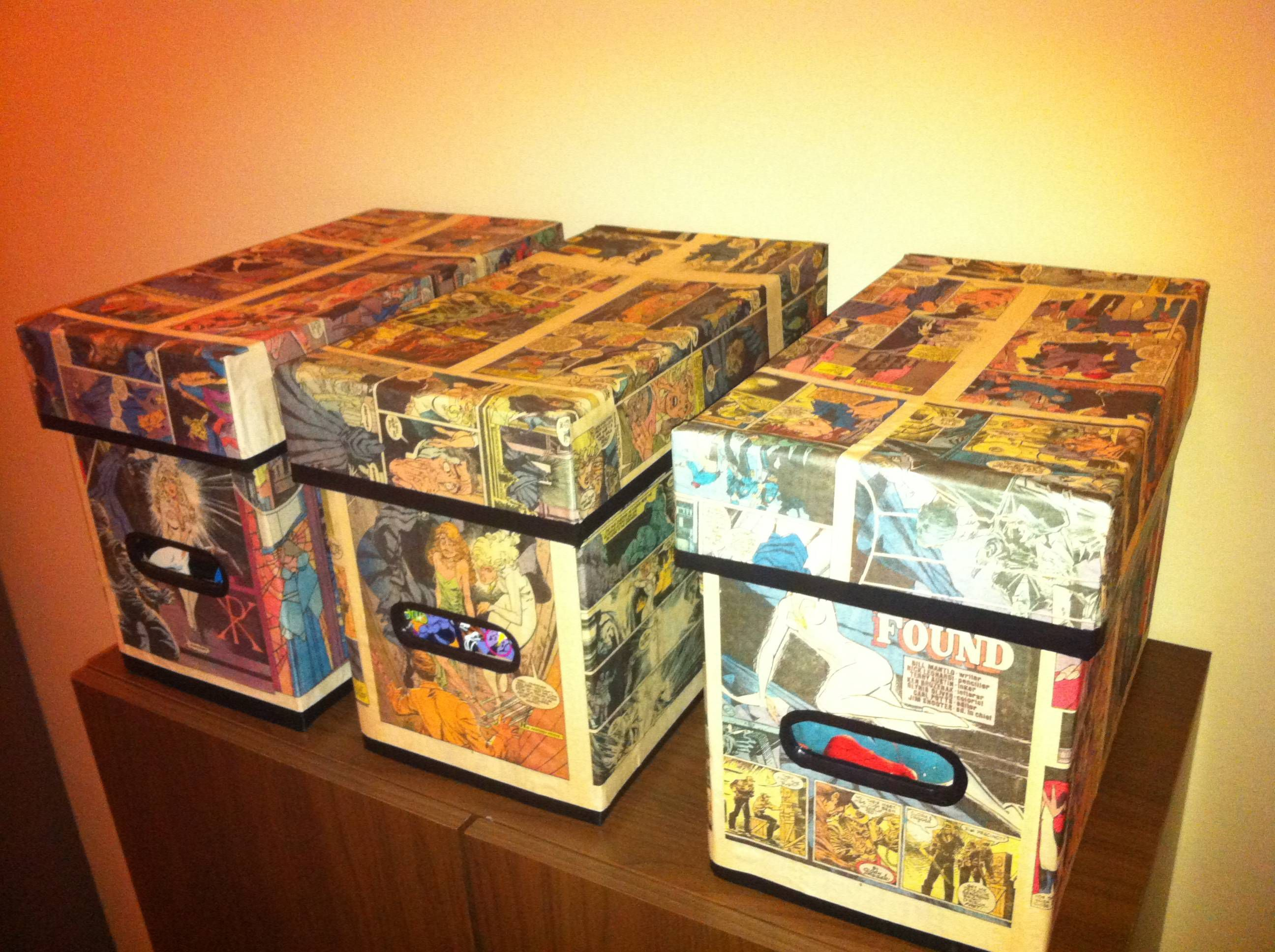 This would be a nice way to display all R's comic book boxes currently  crowding the closet.