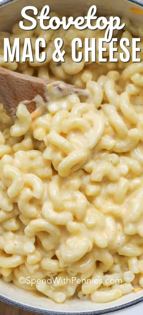 Creamy Stovetop Mac and Cheese - Spend With Pennies This one pot stovetop mac and cheese is serious