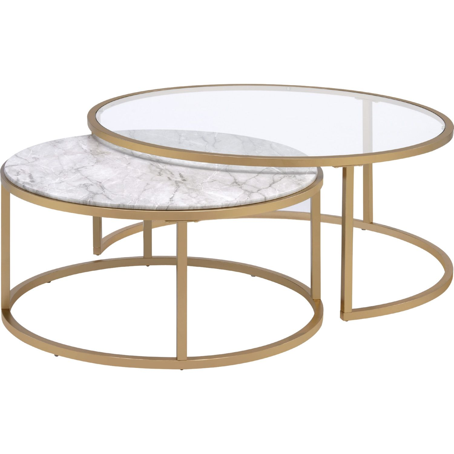 Acme Furniture 81110 Shanish 2 Piece Nesting Table Set Faux Marble Gold Nesting Coffee Tables Gold Nesting Coffee Table Coffee Table [ 1500 x 1500 Pixel ]