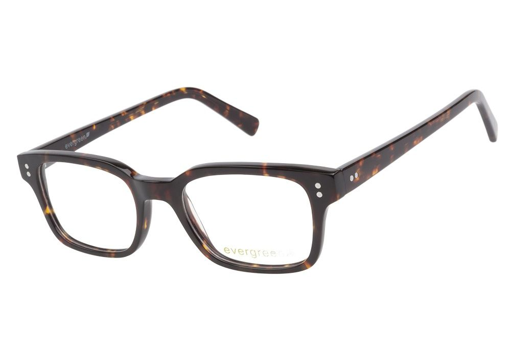 Evergreen 6020 Tortoise eyeglasses are smart and sophisticated. This sleek style has a rich brown tortoise acetate finish throughout with rounded square shape lenses and silver accents at the top corn from @CoastalDotCom