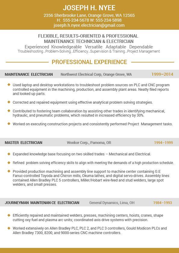 standard resume format 2016 (6) by HerlOrg | Jobs | Pinterest ...
