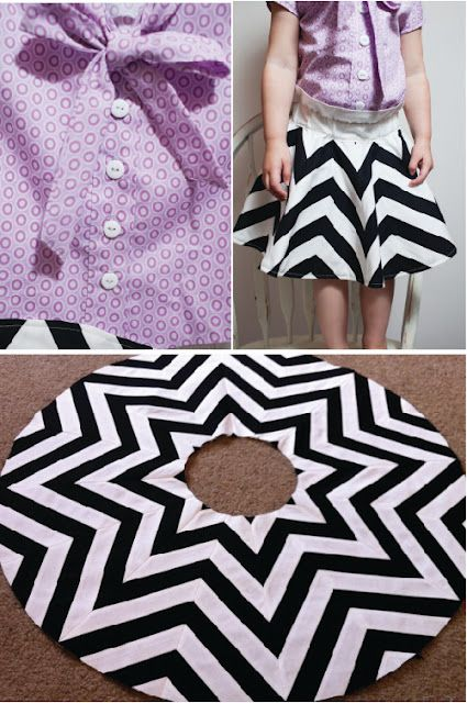 3d6cb5bac5 Amazing chevron skirt- it's pieced! Wonder if I could do this with  strategically cut fabric.
